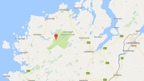 The alarm was raised last night when the walker had not returned to his car which was parked at Loch Barra on the western outskirts of Glenveagh National Park (Pic: Google Maps)