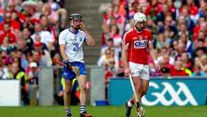 Waterford's Conor Gleeson and Patrick Horgan of Cork see red at Croke Park