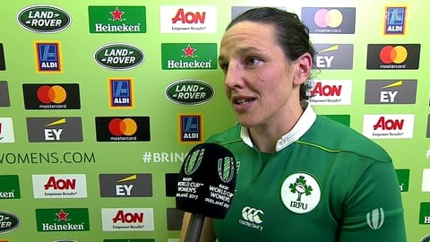 Ireland's Paula Fitzpatrick | Women's Rugby World Cup