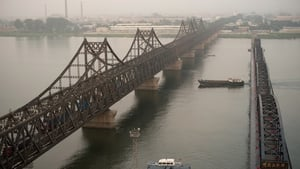 Friendship bridge on the Yalu River connects the North Korean town of Sinuiju and Dandong in the Chinese border city of Dandong