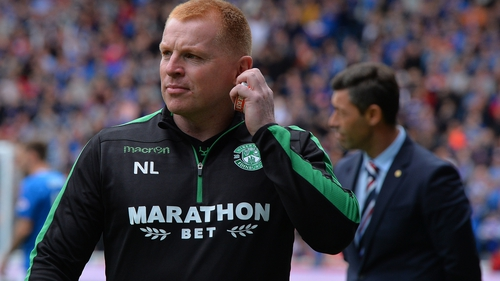 Neil Lennon took his Hibs side to victory over Rangers at Ibrox