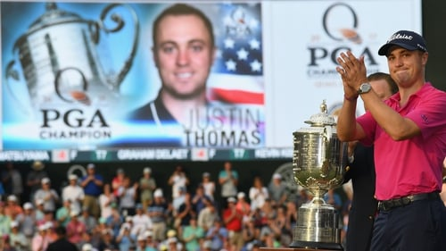 Justin Thomas after his major success in 2017