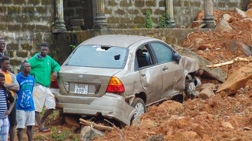 Heavy rains triggered the huge mudslide