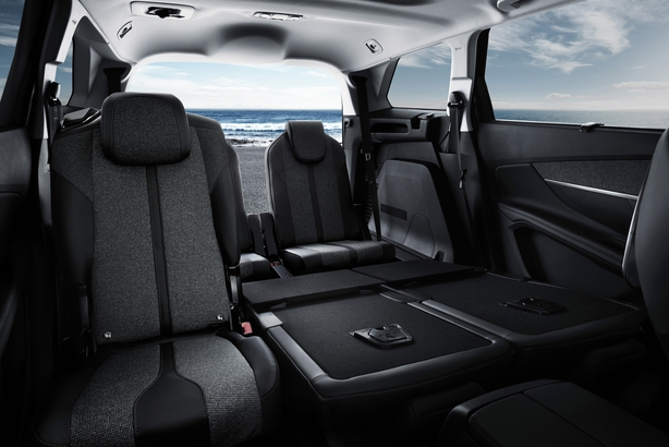 Three rows of seats can be arranged to provide a massive 2,000 litres of carrying and load space