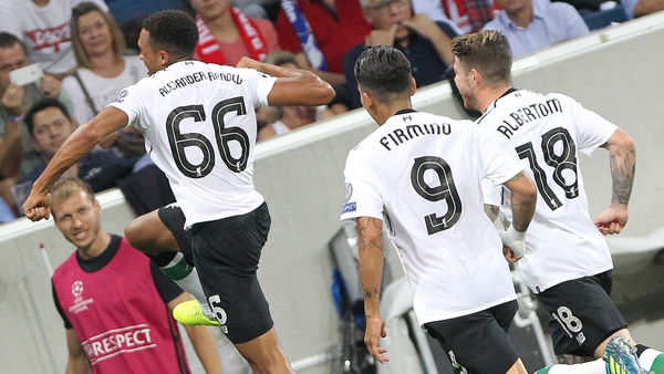Trent Alexander-Arnold gave Liverpool the lead away to Hoffenheim