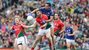 Action from the drawn 2014 semi-final involving Kerry and Mayo