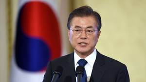 "President Moon said North Korea was ""expressing a will for a complete denuclearisation"""