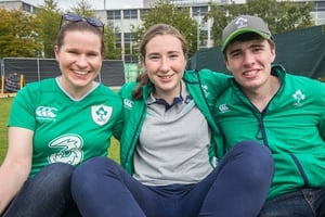 Fans preparing for Ireland's final Pool C game in UCD