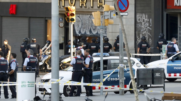 Man shot in search for Barcelona van attack suspect