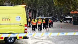 Paramedics at Las Ramblas