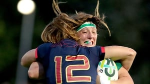 Lindsay Peat is tackled during a trying encounter