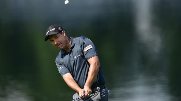 Stenson leads Wyndham by one stroke