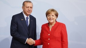 Recep Erdogan and Angela Merkel met at the G20 summit in Hamburg in July