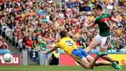 Mayo scored four goals in their quarter-final replay victory over the Rossies