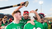 Limerick players celebrating after winning the 2017 Munster U21 title.