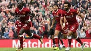 Sadio Mane celebrates scoring the game's only goal