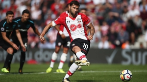 Charlie Austin fires home from the spot for Southampton