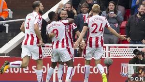Jese celebrates his Stoke goal