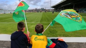 Young Mayo and Kerry supporters show their allegiance.