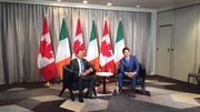 Leo Varadkar held a bilateral meeting with Justin Trudeau this afternoon