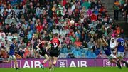 Mayo's Paddy Durcan lands the final score of the game deep into injury time