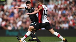 Declan Rice put in a solid shift in the middle of the park as he made his first Premier League start for West Ham