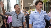 Leo Varadkar and Justin Trudeau took part in the Montreal Pride Parade today