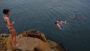 The Forty Foot in Sandycove Dublin remains one of the capital's most popular spots for a dip