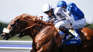Jim Crowley (white cap) and Ulysses beat Barney Roy in the Eclipse