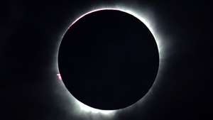 A diamond ring solar eclipse is seen from Central Sulawesi in Indonesia in March 2016