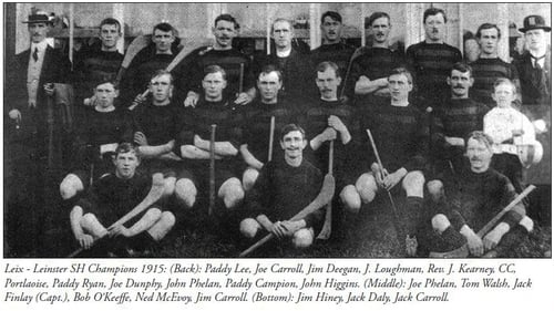 The Leix team who won the 1915 All-Ireland hurling final