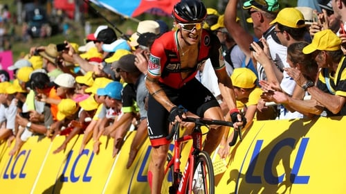 Nicolas Roche is keep the pressure up on Chris Froome