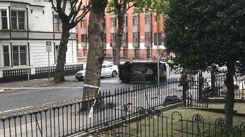 Four pedestrians were struck by the car in Dublin