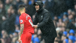 Jurgen Klopp: 'He can't start because on top of that (injury) he's now ill.'