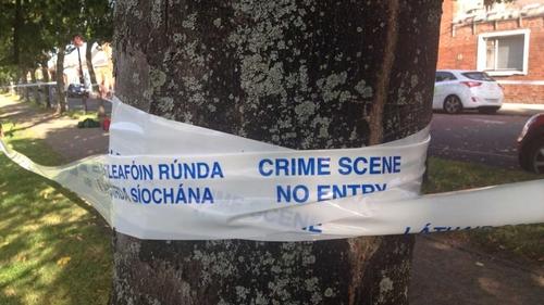The scene in Portobello was sealed off