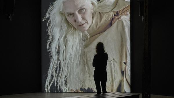 Actress Olwen Fouéré features in artist Jesse Jones' Tremble Tremble, on show at the 57th Venice Biennale.