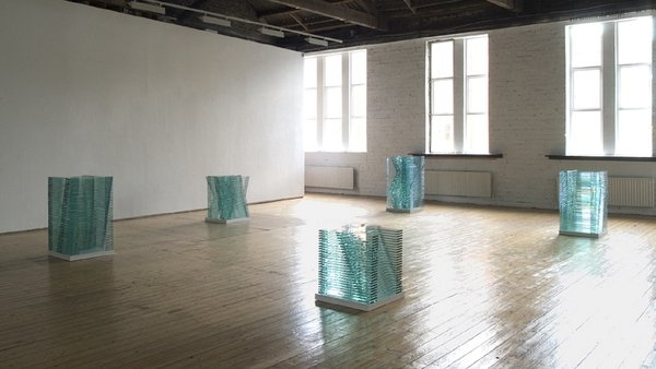 Corban Walker - Grid Stacks - installation at Green On Red Gallery, Dublin