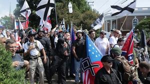 White nationalists, neo-Nazis, and Ku Klux Klan members in Charlottesville