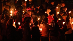 Residents paid their respects at a two-hour ceremony in which the name of each victim was read out