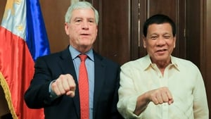 A Philippines presidential spokesman said the photo reflected the warm relationship between the two countries
