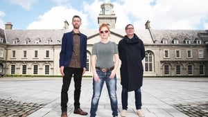 Artists Ciarán Murphy, Mairead McClean and  Mark Garry, pictured at IMMA (the Irish Museum of Modern Art)