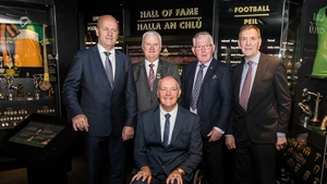 GAA President Aogan Ó Fearghail with Jack O'Shea, Padraig Horan and Frank Cummins and Matt Connor