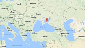 The accident occurred on the Taman peninsula on the Black Sea