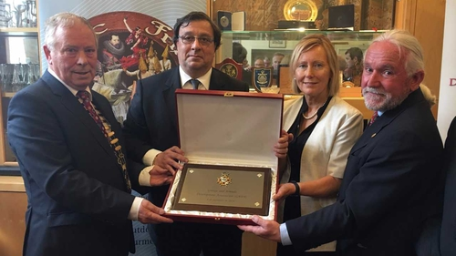 Spanish Ambassador to Ireland, His Excellency José María Rodríguez-Coso presented the Plate of the Order of Isabel La Católica to the Grange and Armada Development Association