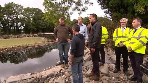 Taoiseach Leo Varadkar joins Government Chief Whip Joe McHugh in Donegal