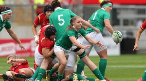 Nicole Cronin in action for Ireland