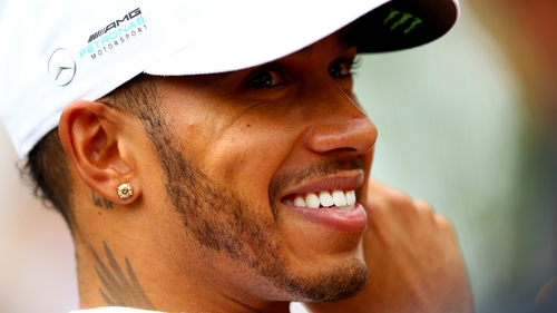 Lewis Hamilton has equalled Michael Schumacher's Formula One pole position record