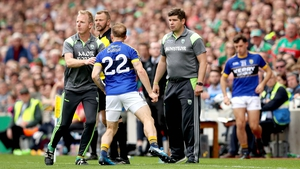Darran O'Sullivan was not happy to be dismissed