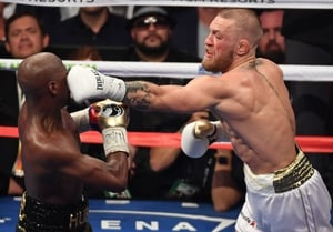 UFC star Conor McGregor went toe-to-toe with boxing legend Floyd Mayweather