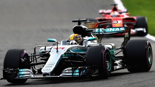 Hamilton's fifth success in 12 races came a day after he equalled Michael Schumacher's all-time record